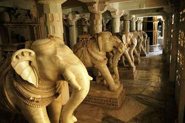 Sculptures-of-elephants-inside-the-Dilwara-Temples
